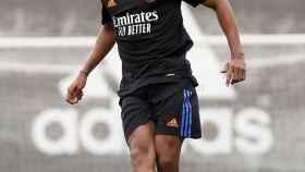 Rodrygo, en el entrenamiento del Real Madrid