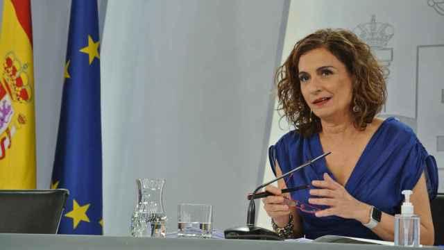 María Jesús Montero, ministra de Hacienda y Función Pública,  tras el Consejo de Ministros.