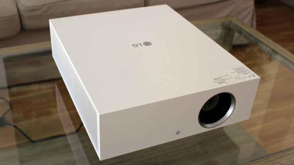 Así es el diseño del proyector de LG.