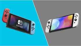 Nintendo Switch OLED y Nintendo Switch estándar.