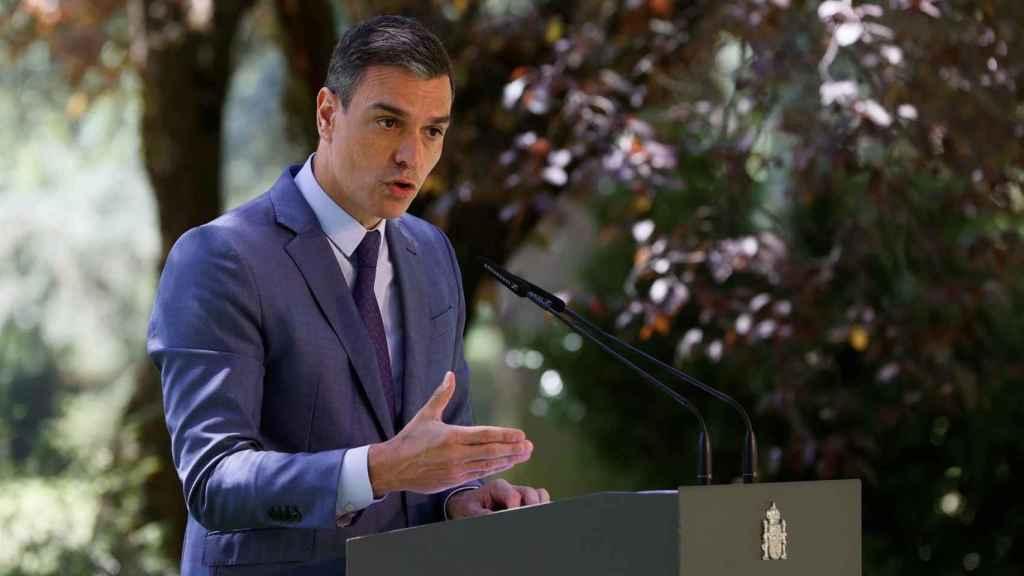 El presidente del Gobierno, Pedro Sánchez, en La Moncloa. Efe