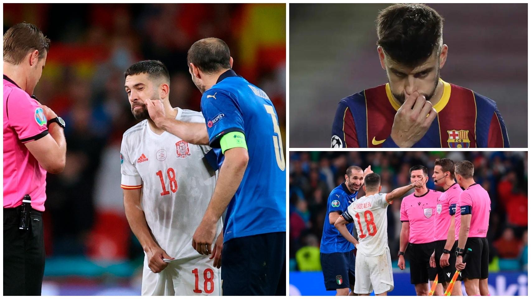 Piqué y los penaltis del Italia - España