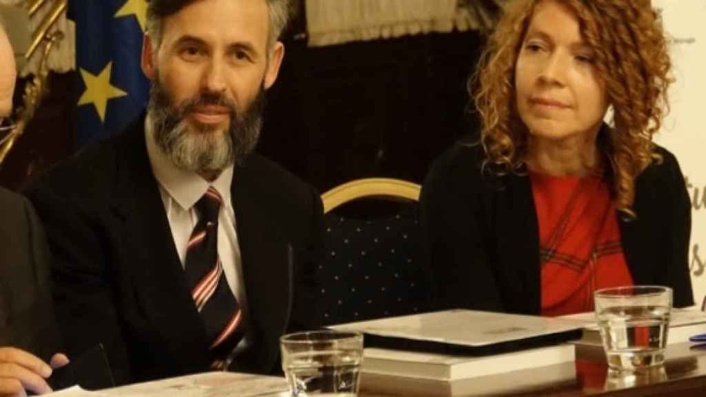 Los investigadores Frank Cazorla y Rosa García Baena