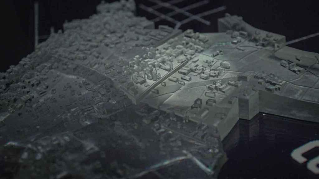 Modelo físico de las ciudades, con piezas impresas en 3D. Foto: City Science
