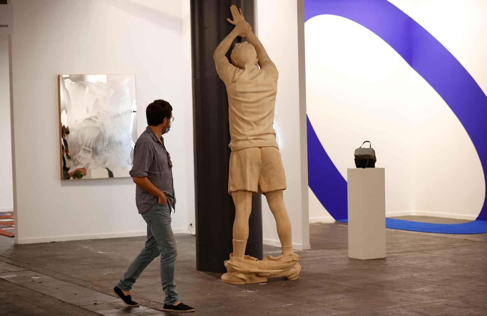 Stand de la galería Albarrán Bourdais en ARCO 2021.