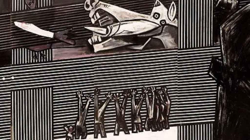 Detalle del Guernica de Ibarrola