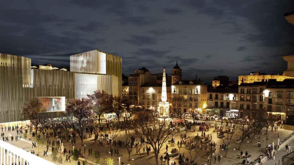 Diseño del edificio ganador del concurso de ideas para el Astoria.