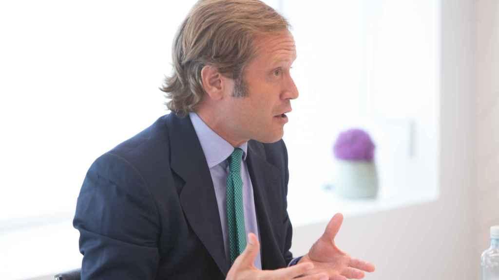 Álvaro Antón (Aberdeen Standard Investments) durante un momento de la conversación.