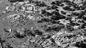 Vista aérea del yacimiento de Son Oms antes de ser destruido.