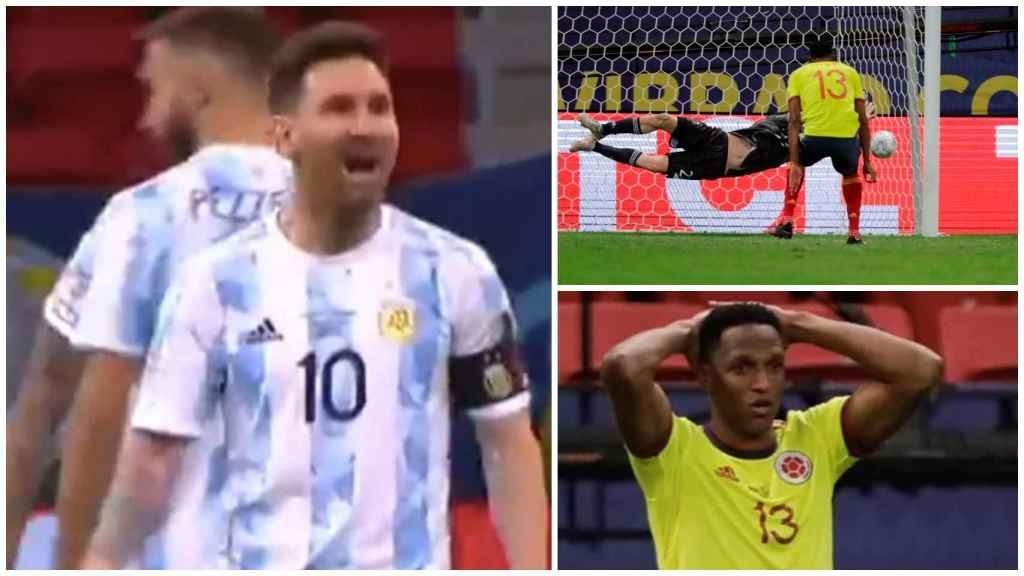 El Messi más desatado, contra Yerry Mina