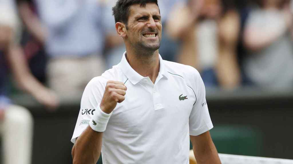 Novak Djokovic, en Wimbledon 2021
