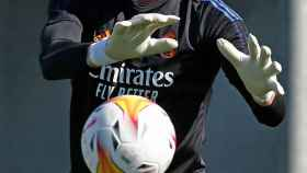 Diego Altube, durante un entrenamiento del Real Madrid