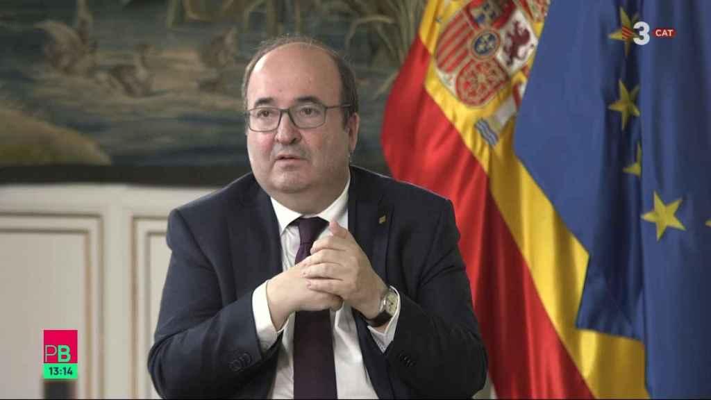 Miquel Iceta, exministro de Política Territorial y Función Pública y ministro de Cultura y Deportes.