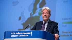 El comisario de Asuntos Económicos, Paolo Gentiloni, durante la presentación este miércoles de las previsiones económicas de verano