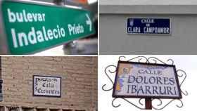 Diferentes calles de España.