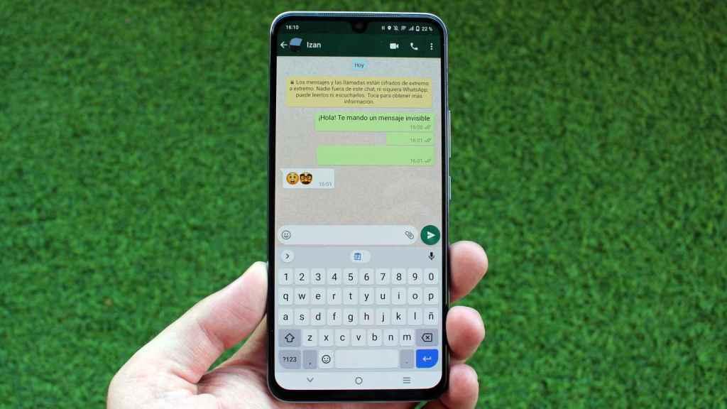 WhatsApp deja enviar el mensaje al pegar los caracteres especiales.