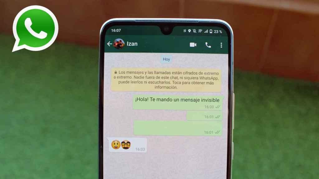 Truco de WhatsApp para enviar mensajes invisibles.