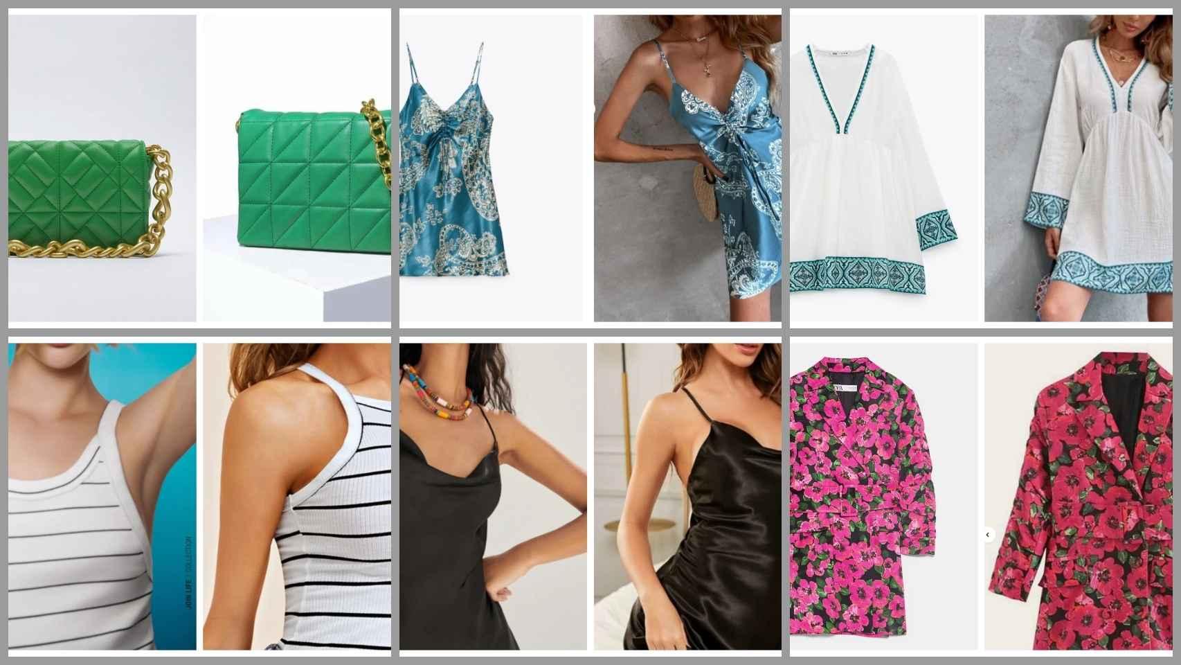 Prendas de Zara y Shein