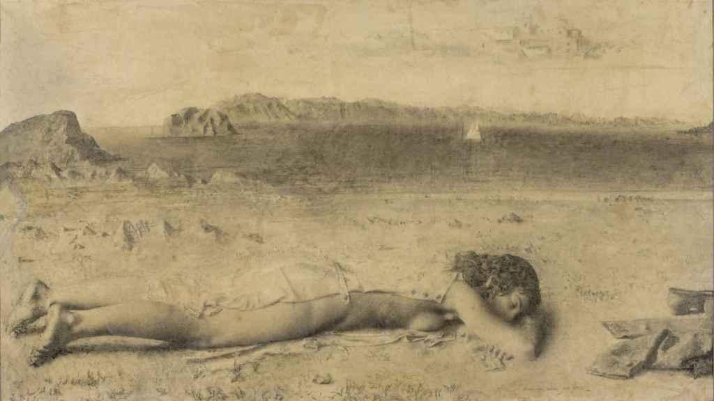 Una imagen del cuadro original de Antonio López
