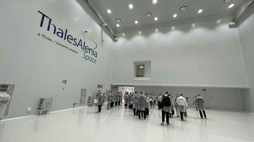 Sala blanca de Thales Alenia