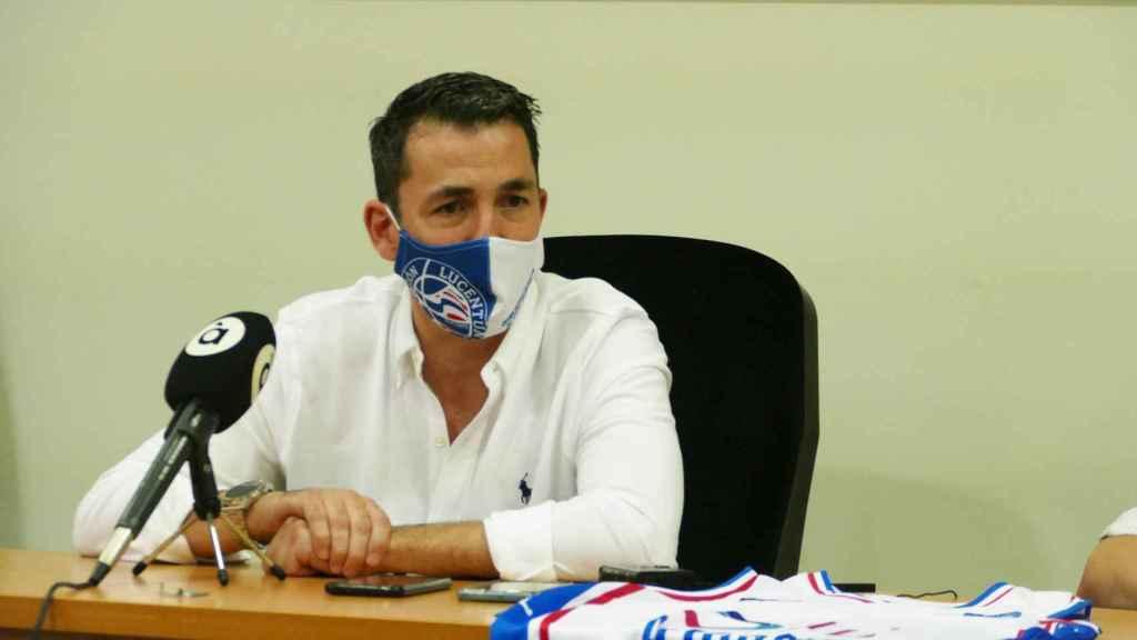 Gonzalo García de Vitoria, en su primera rueda de prensa este jueves.