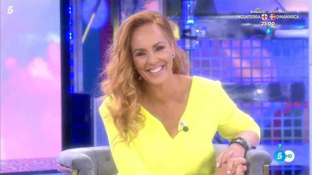 Rocío Carrasco en su debut como colaboradora de 'Sálvame'.