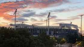 El nuevo Santiago Bernabéu en obras a comienzos de julio de 2021