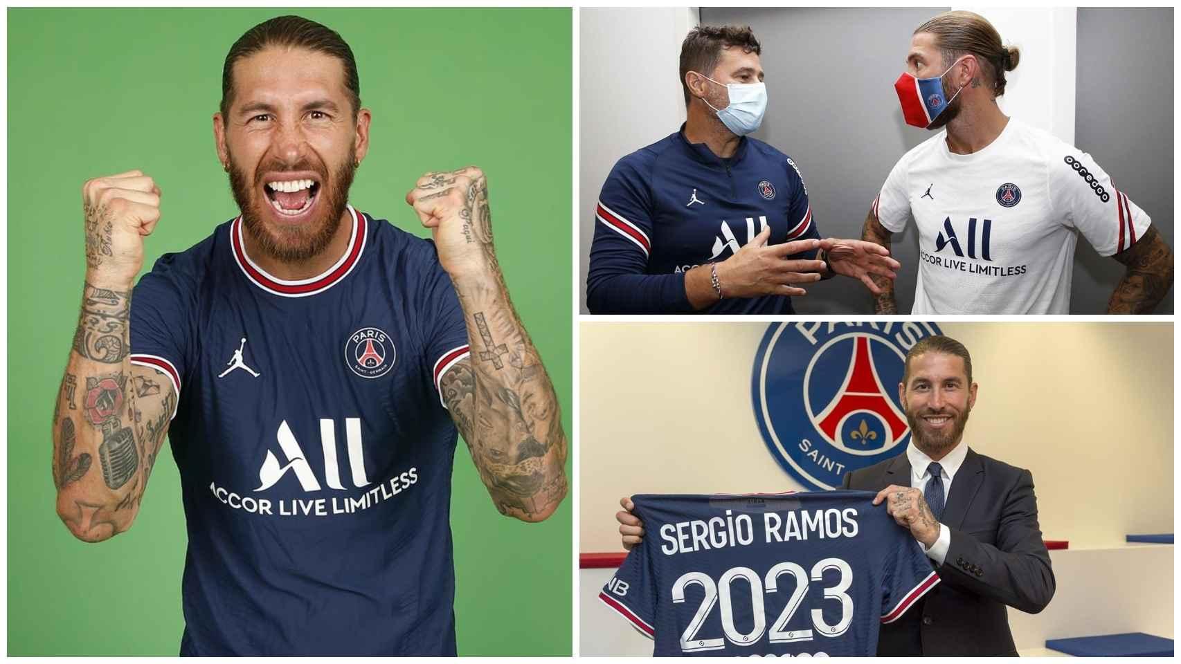 Las primeras fotos de Sergio Ramos en el PSG