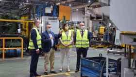 La consejera de Economía, Empresas y Empleo de Castilla-La Mancha, Patricia Franco, en su visita a la empresa LCN Mecánica - JCCM