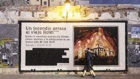 Un grafiti del artista malagueño en calle Victoria.