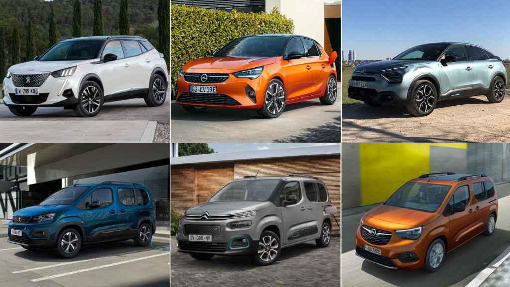 Estos son los seis coches del Grupo Stellantis que se fabrican en Vigo, Zaragoza y Madrid.