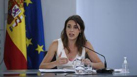 Irene Montero durante una rueda de prensa tras  el Consejo de Ministros.
