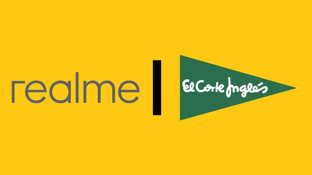 Logos de Realme y Corte Inglés.