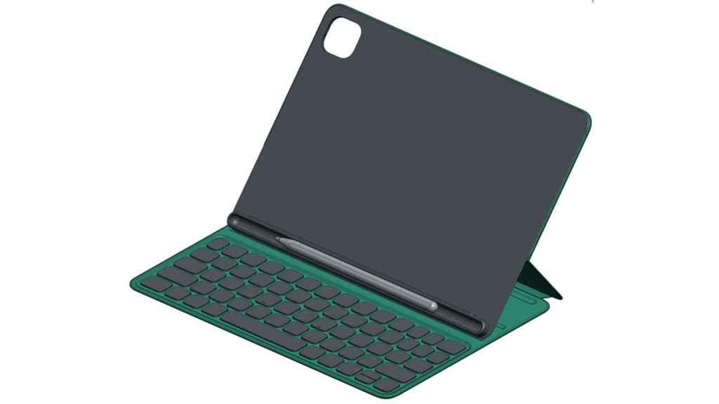 Supuesto teclado con funda que comercializará Xiaomi con su nueva Mi Pad 5.