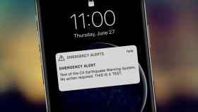 Alerta en un teléfono móvil.