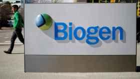 FILE PHOTO: FILE PHOTO: A sign marks a Biogen facility in Cambridge