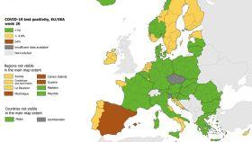 Mapa del ECDC.
