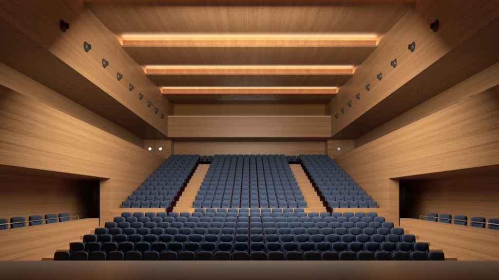 Interior del teatro proyectado.