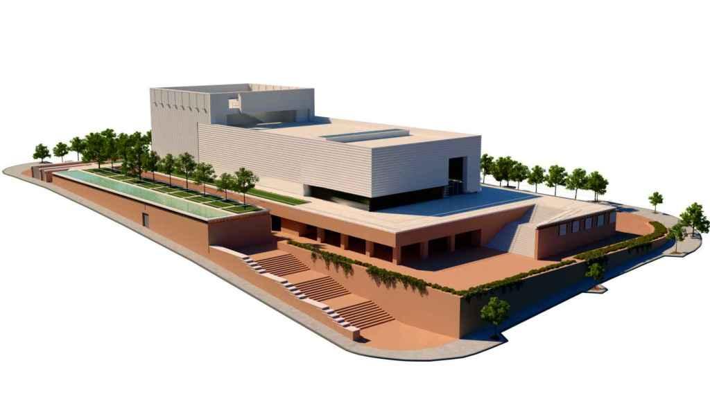 Otra de las infografías del edificio cultural.