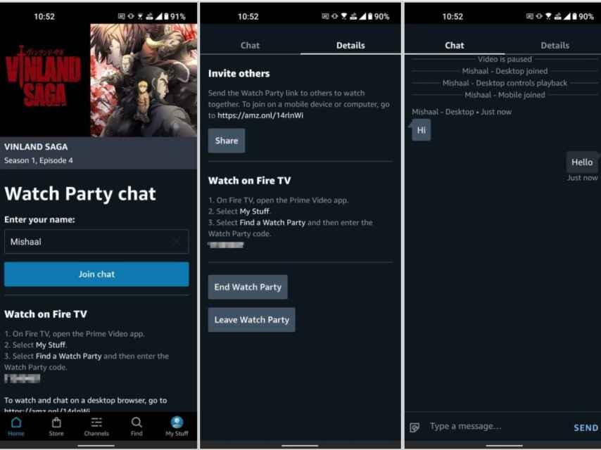 Amazon Prime Video crear video grupal