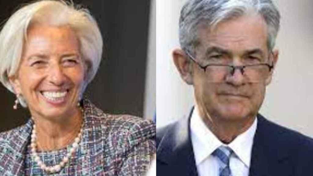 Christine Lagarde y Jerome Powell.