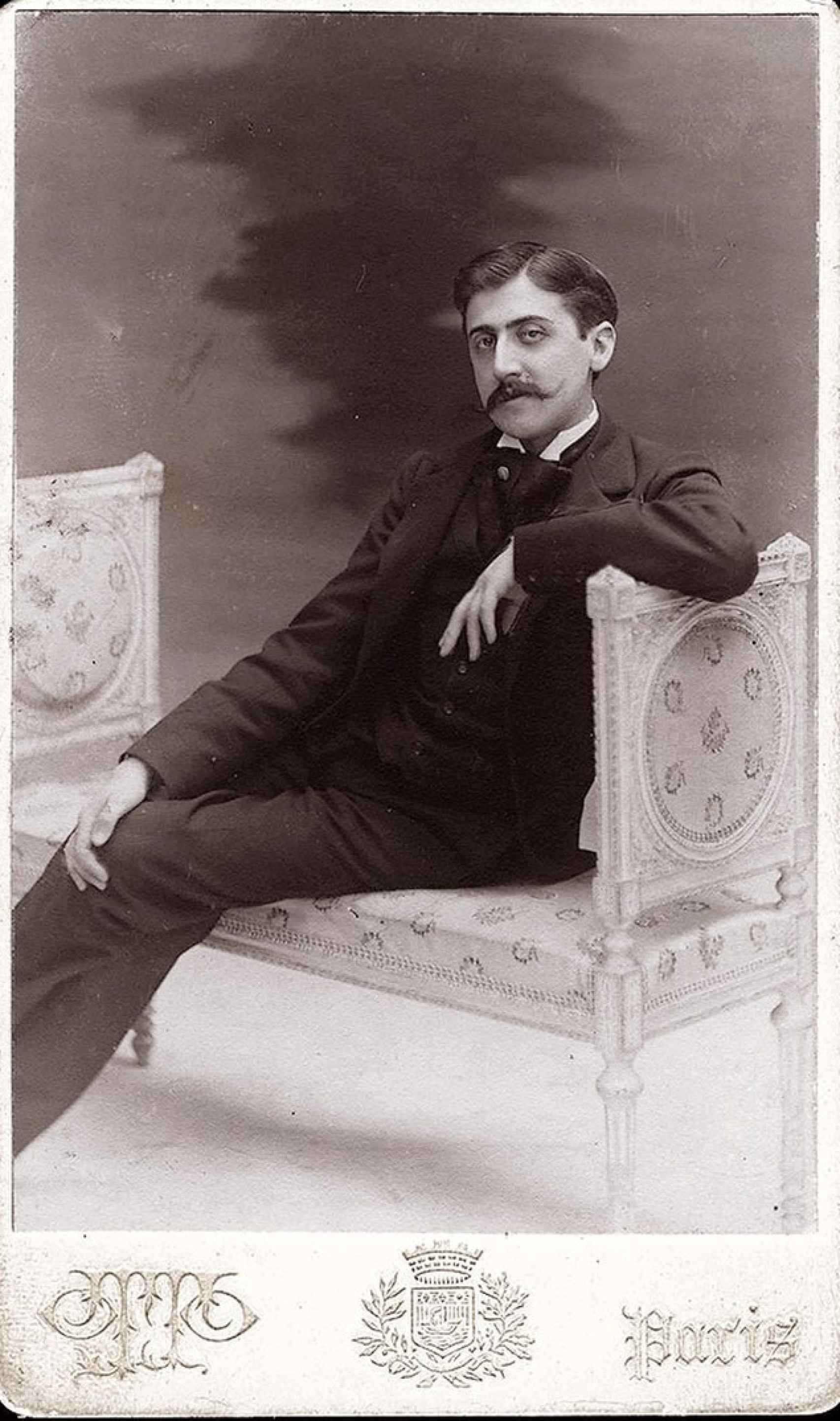 Marcel Proust fotografiado por Otto Wegener, 1895