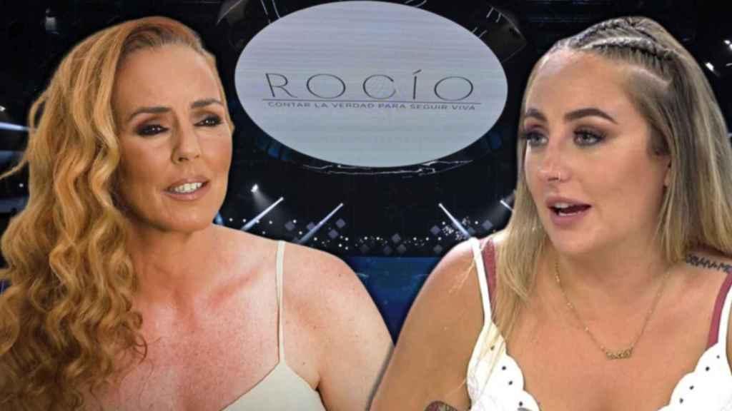 Rocío Carrasco y Rocío Flores en montaje de BLUPER.