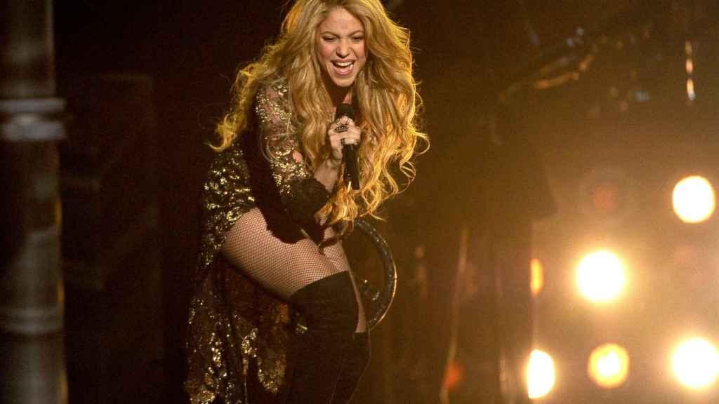 Shakira, durante un concierto en Las Vegas en 2014.