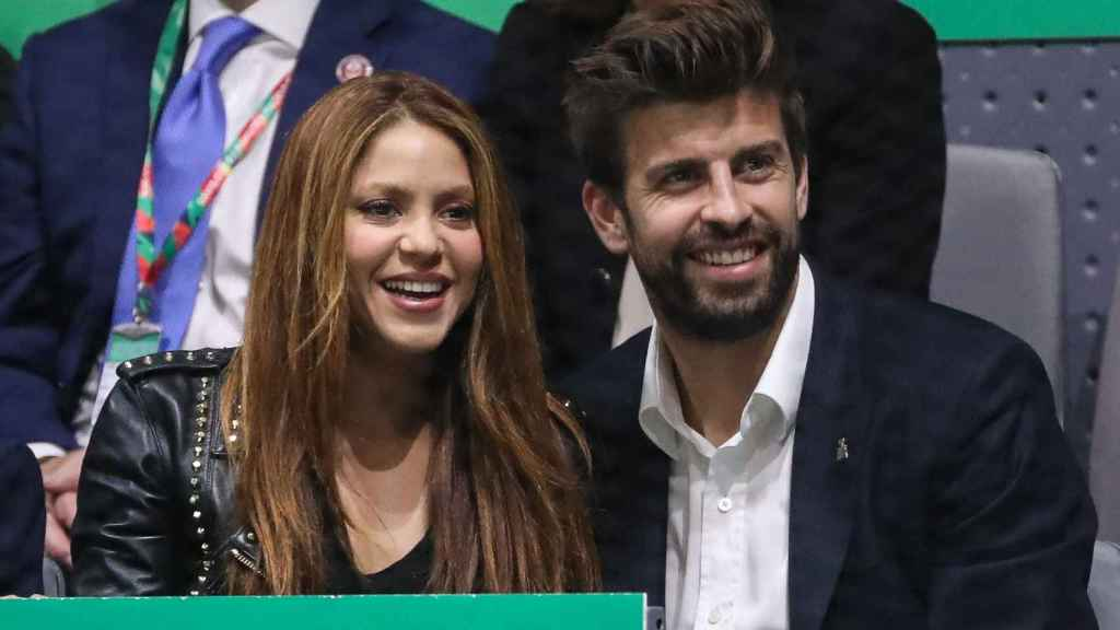 Shakira and Piqué in the Davis Cup 2019.