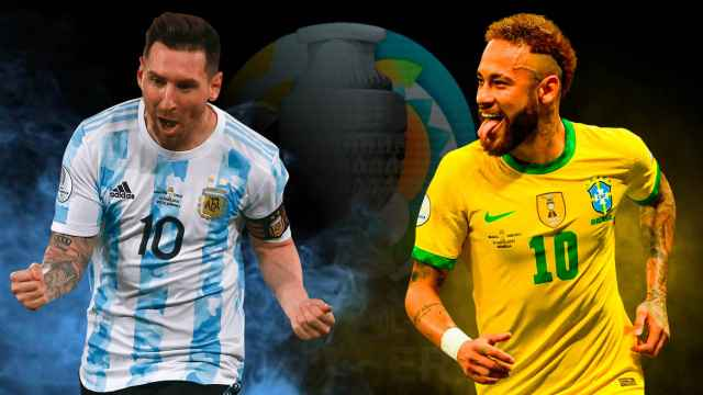 Messi y Neymar en un fotomontaje
