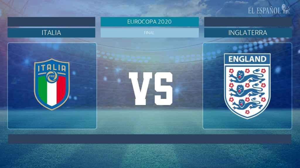 Horario internacional y dónde ver la final Italia - Inglaterra de la Eurocopa 2020