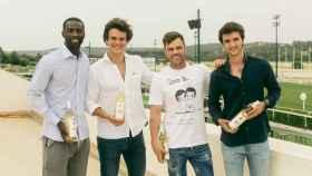 Fonsi Nieto junto a sus socios Pedro Obiang, Sandro Ávila y Javier Muñoz