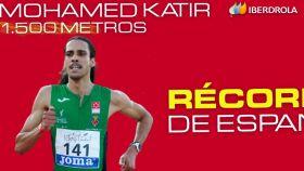 Mohamed Katir logra el récord de España de 1.500 metros