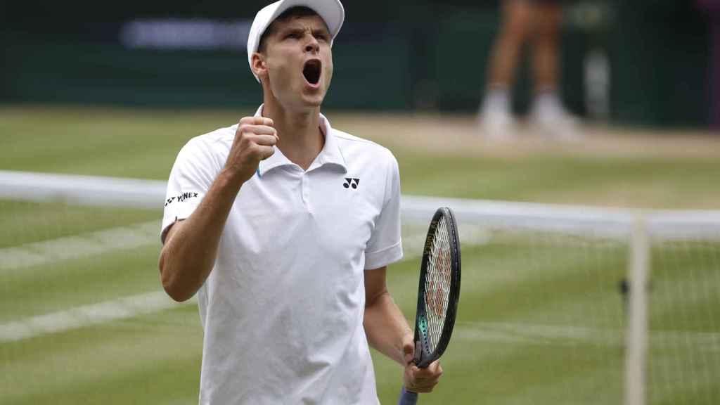 Hubert Hurkacz en Wimbledon 2021
